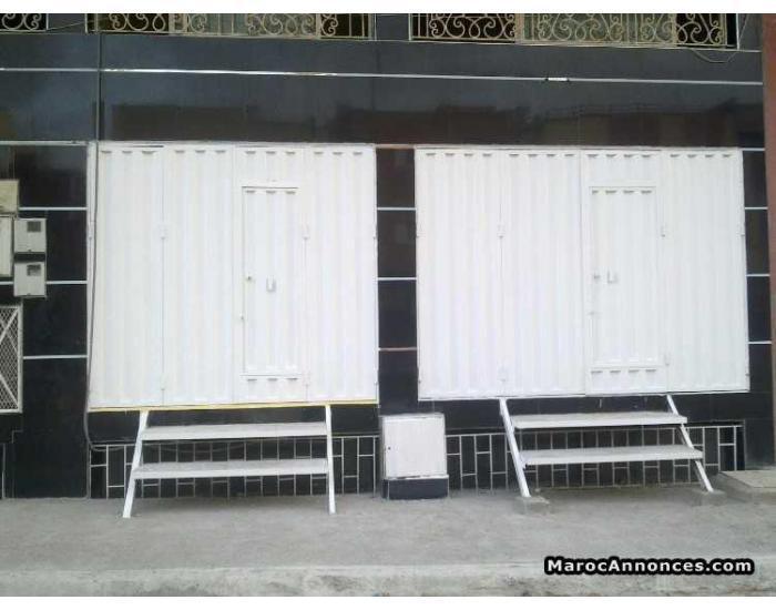 Location 2 Magasins et Appartement a  double usage bureaux Habitable a SALA AL JADIDA